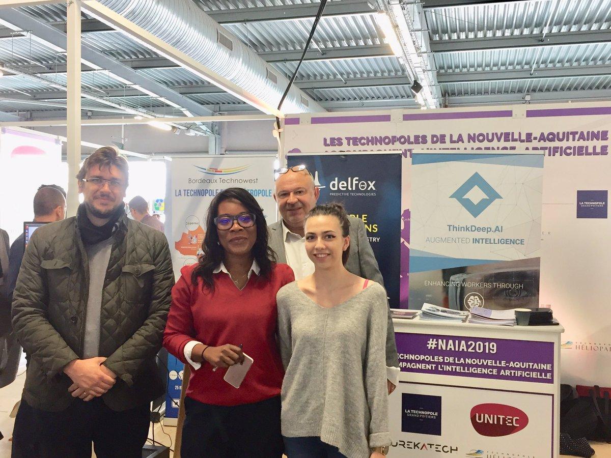 Retrouvez nous sur le stand des technopoles de @NvelleAquitaine à #NAIA2019 au Hangar 14 avec @winespace_fr @delfox_net @mediamap_fun et @KIPERS_Ind 4 #startup spécialisées #IA 🧠🤖   #ArtificialIntelligence #Bordeaux
