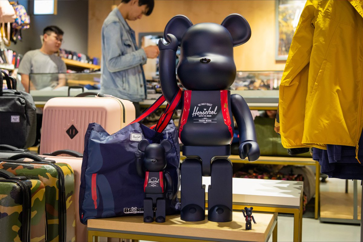 73583f80 @Herschelsupply teams up with Medicom toy releasing their first exclusive  collaboration. See the full collection at Harbour City.