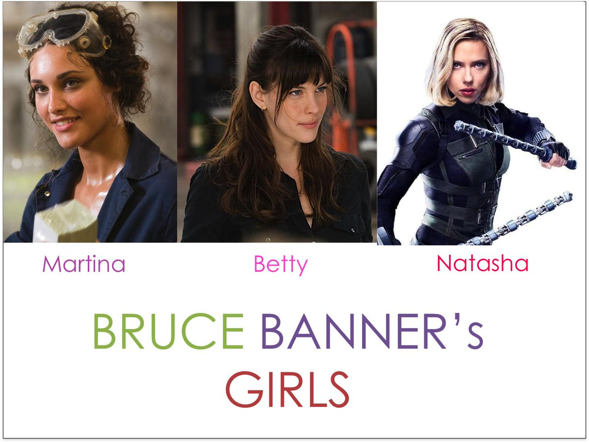 Lukester Cycle Which Ladies Should Good Enough For Bruce Banner In