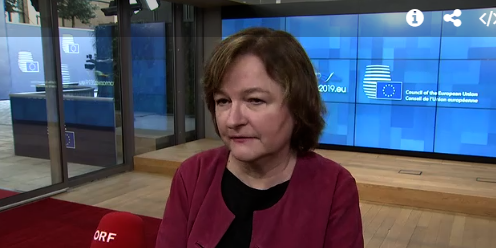 France&#39;s Nathalie Loiseau, whose renamed her cat &quot;Brexit&quot; today: &quot;They&#39;ve said no to a no deal, and they&#39;ve said no to a realistic deal. They have to change their mind on one of the two options&quot; #gac<br>http://pic.twitter.com/t4ogTGLH8V