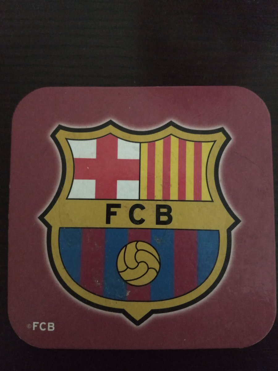 Always a ton of crap to do when visiting my OL Man's place . . . it's a bastard getting old eh 😡🤬 Was cleaning house n found this tucked away in a dusty corner . . . Barcelona drinks Coaster 😳  Could it be a sign? 😉 'Forever United'🔴⚪⚫ @ManUtd #MUFC #GGMU @ChampionsLeague