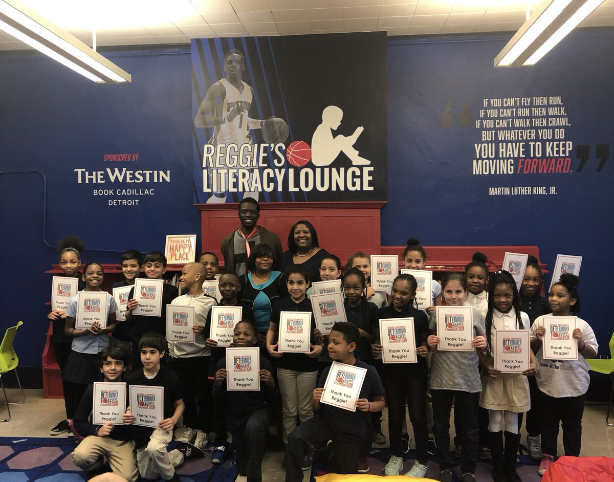 This is the 8th Literacy Lounge opened by @Reggie_Jackson and the @DETtoAssist Foundation!
