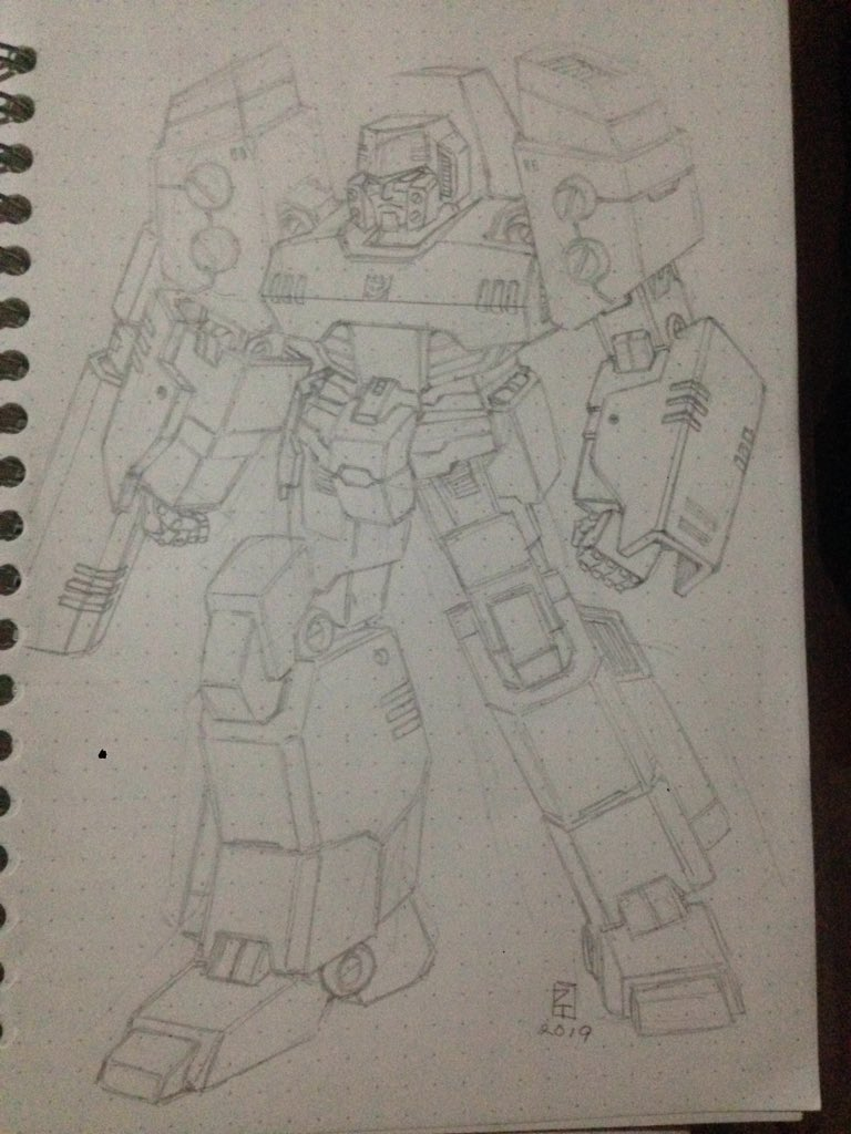 Animated Megatron redesign by me, I will ink this tomorrow cause my eyes feel tired heh #Transformers #Megatron