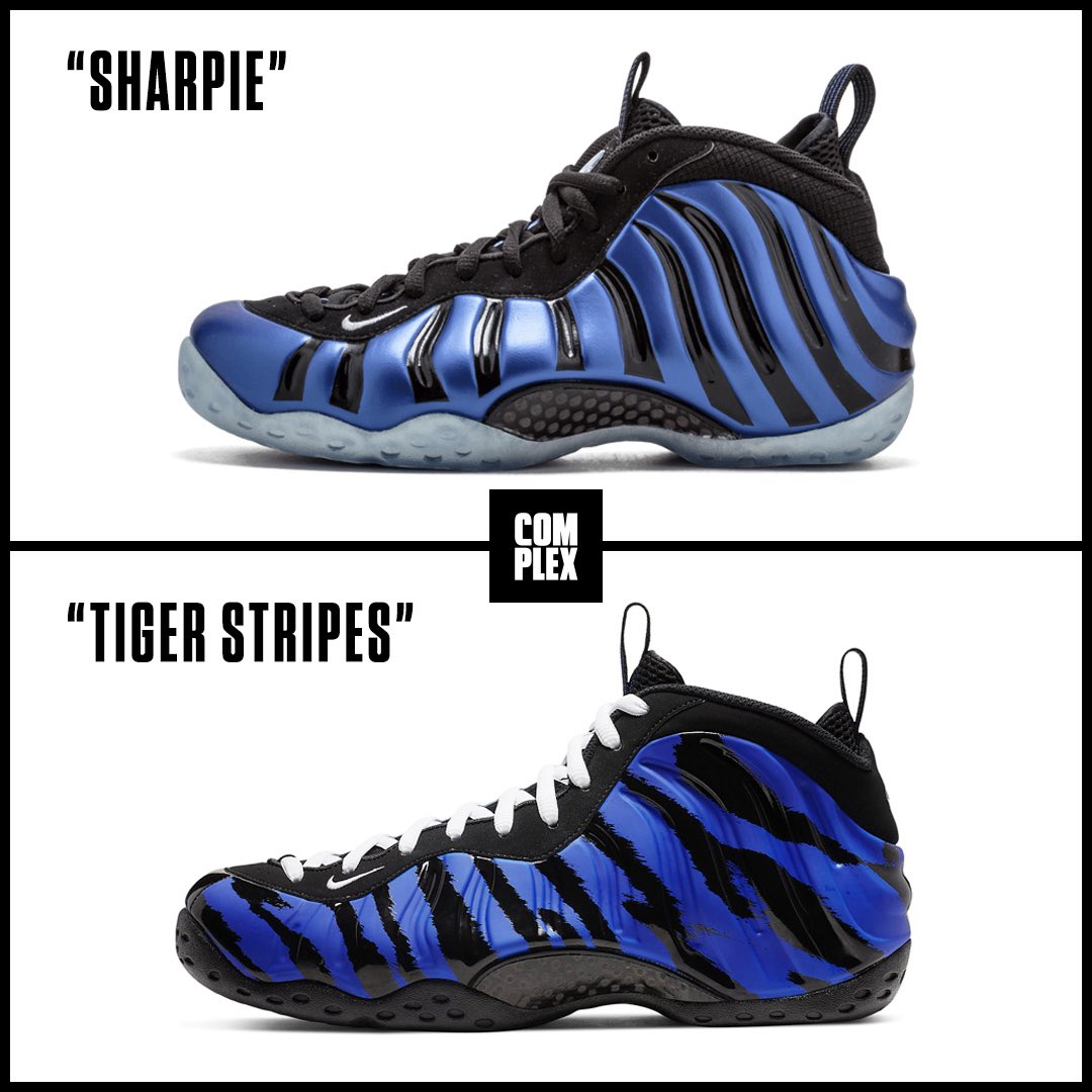 4cd80737117 pick a foamposite or iam1cents tiger stripes drop march 22