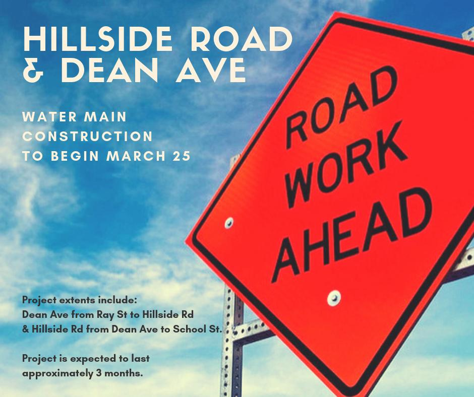 Construction Alert: Dean Ave, Hillside Road