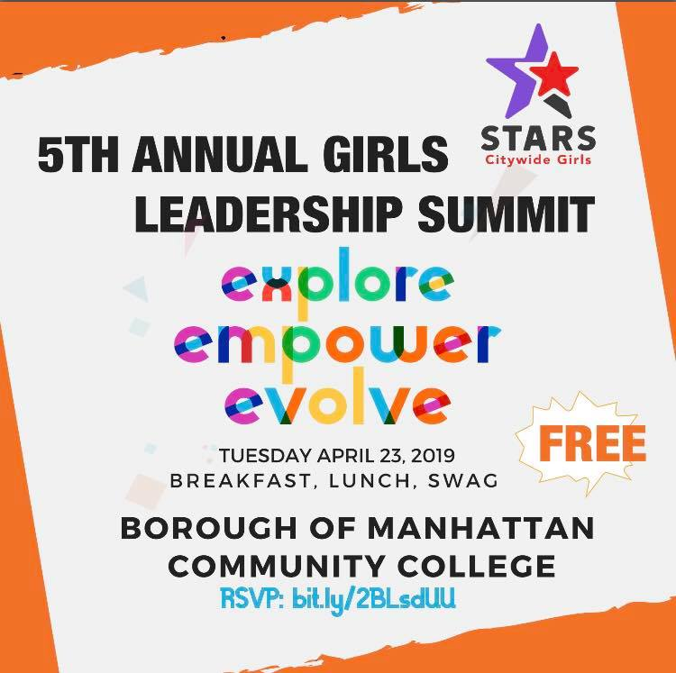 GGE is proud to be a partner of #STARSCGI and committed to empowering girls and GNC youth across all five boroughs. RSVP today and join us on April 23rd for our 5th Annual STARS CGI Leadership Summit where GGE youth participants will be leading workshops! https://bit.ly/2W4VNfK