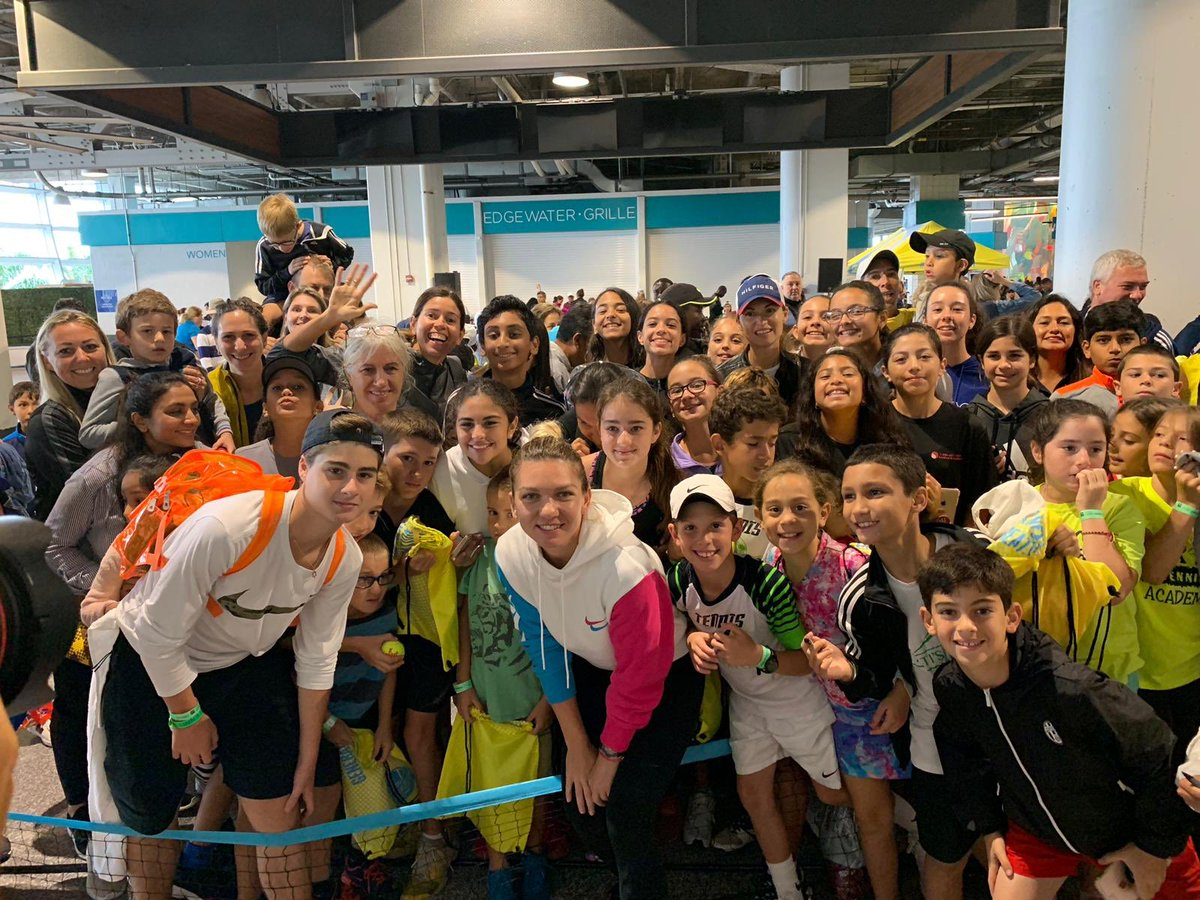 No better way to spend a rainy morning than with these kids 😍 @MiamiOpen