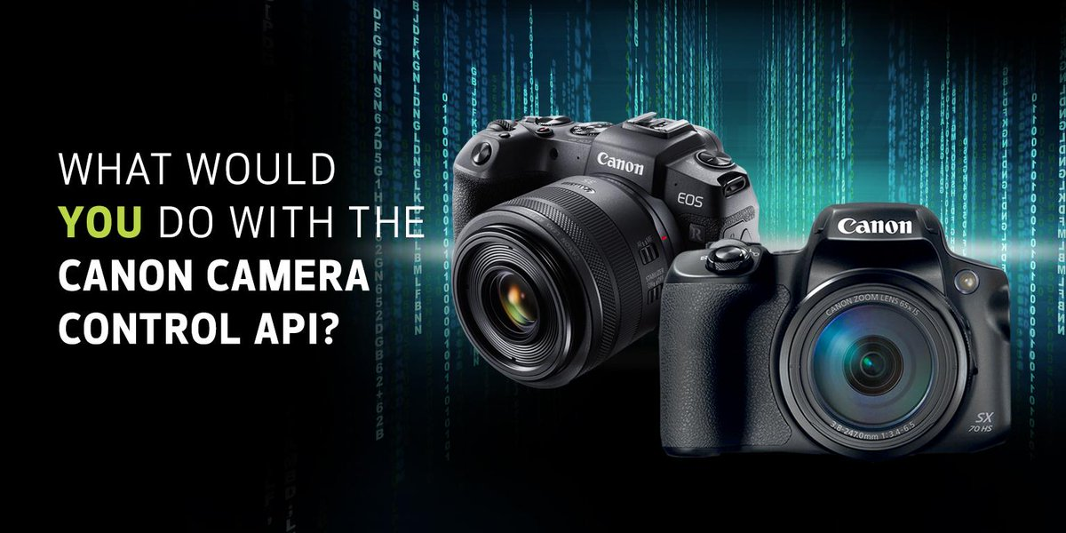 New Wi-Fi based Camera Control API now available on the Powershot SX70HS and EOS RP. How can you use it to develop your next app?   Enter our Virtual Hackathon for a chance to win $5,000 and a Canon camera! http://canon.us/apicontest Contest ends 3/29 at 11:59pm ET.
