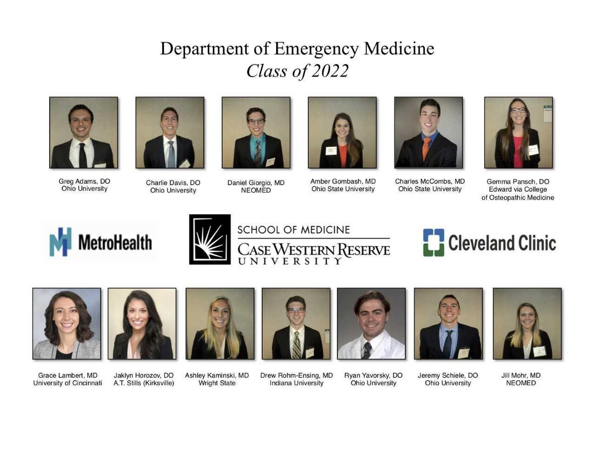 Big welcome and congrats to our incoming Class of 2022! We are so excited that you matched with us and can&#39;t wait to have you join the @metrohealthCLE and @ClevelandClinic family! #EmergencyMedicine #MatchDay<br>http://pic.twitter.com/DLKEGkR2PY