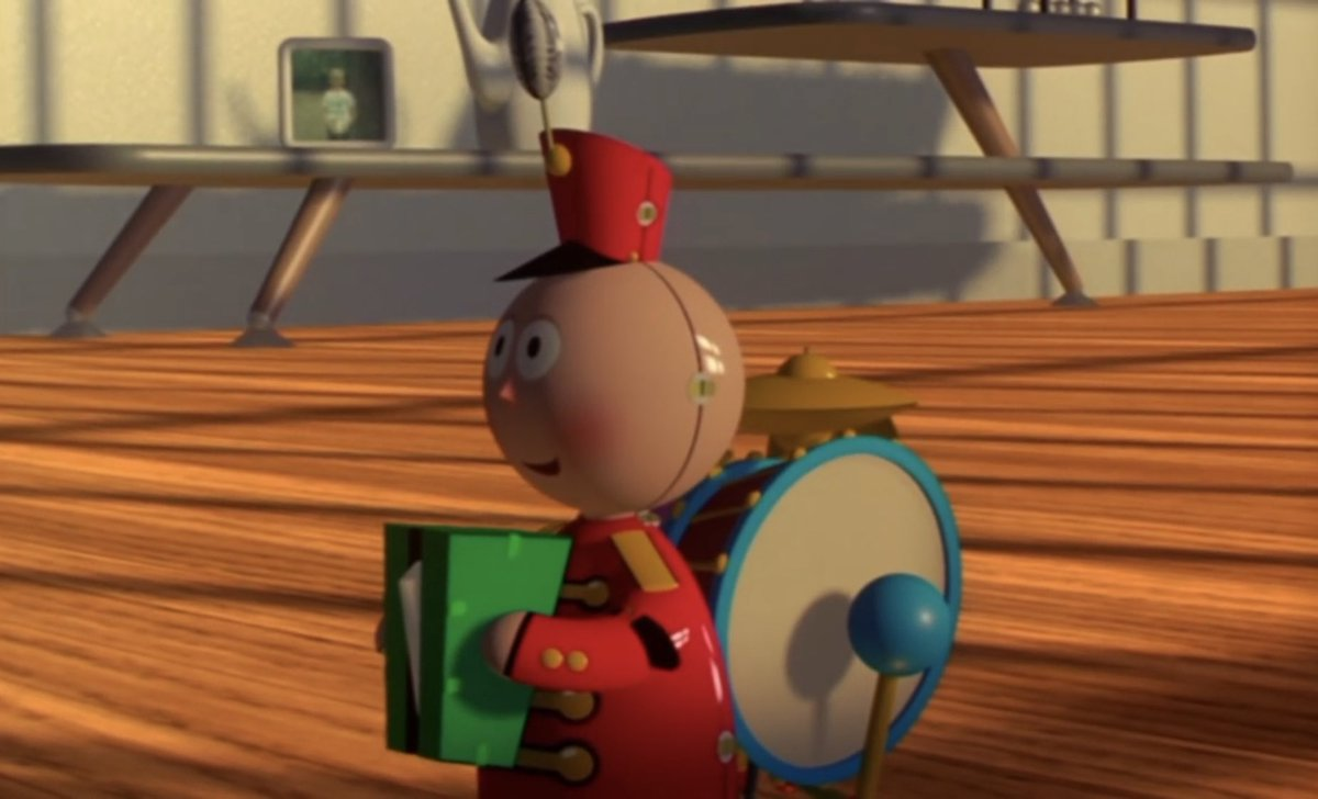 """Tinny from the """"Tin Toy"""" ToyStory4 Disney Pixar Easter eggs"""