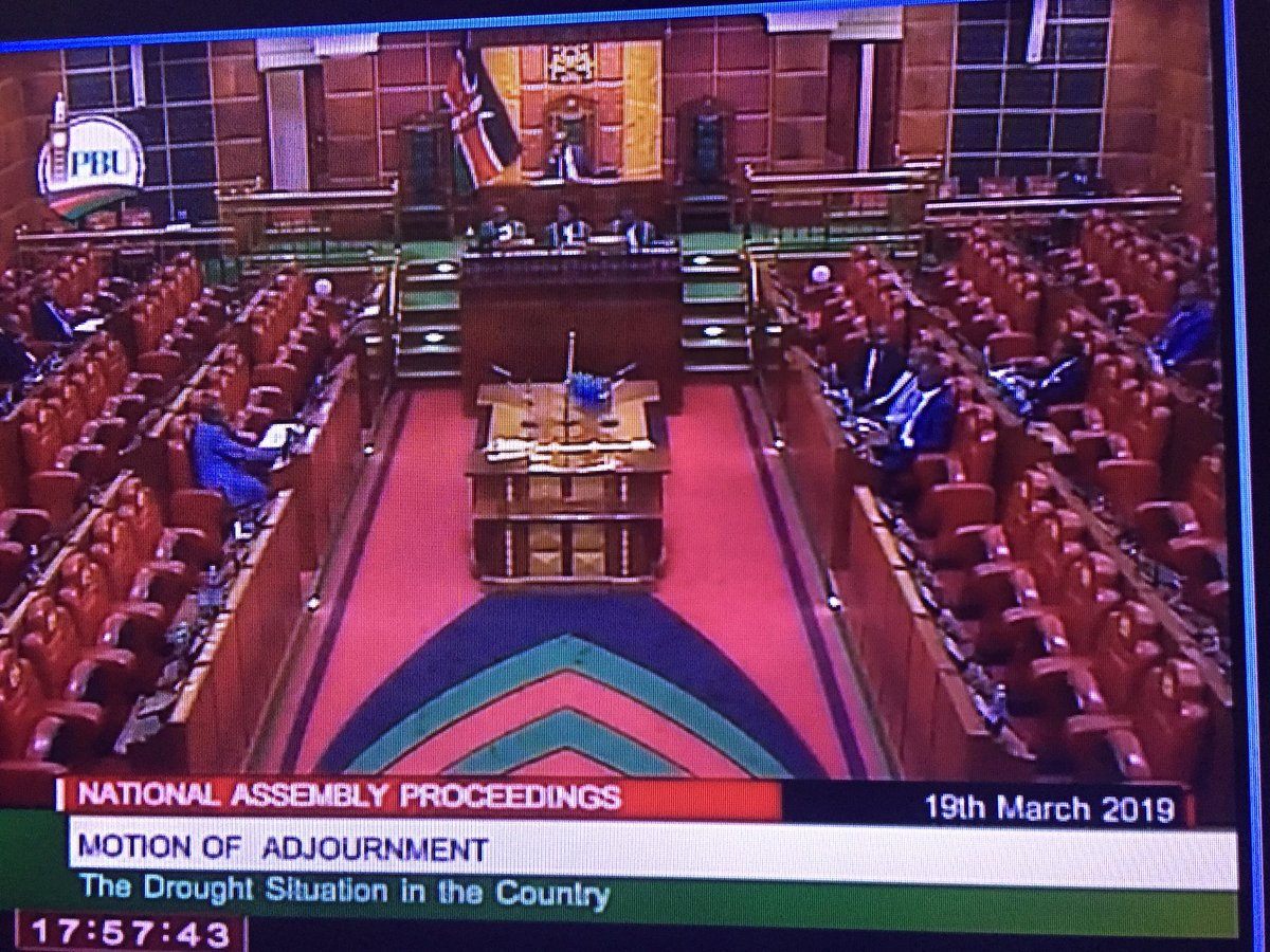 Dear Kenyans, that's the turnout in parliament when they're supposed to discuss drought and food security  .@bonifacemwangi @kenyanpundit