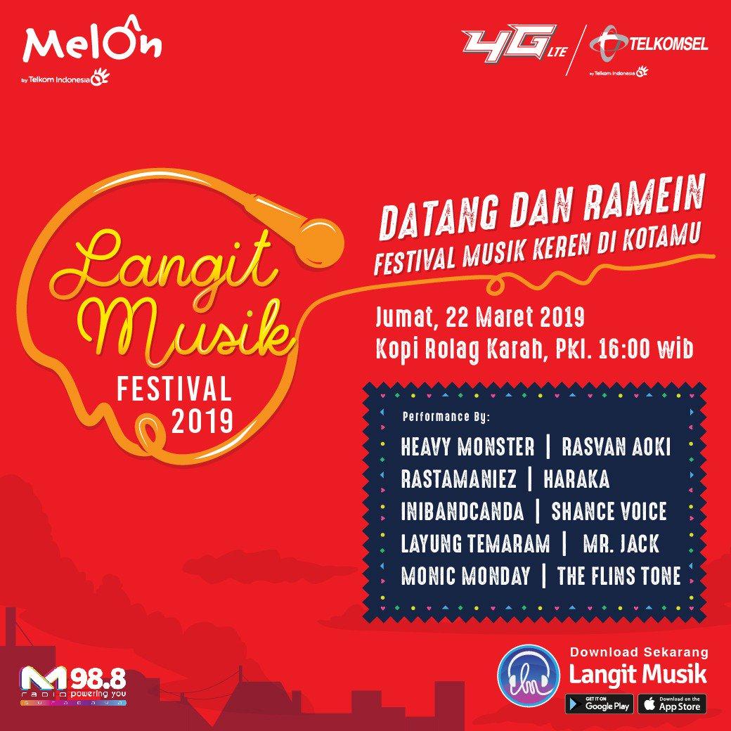 Yang ada di Surabaya jangan lupa untuk datang dan ramaikan Langit Musik Festival 2019 di hari Jumat, 22 Maret 2019 Kopi Rolag Karah.  Karena banyak bintang tamu yang siap menemanimu bernyanyi dan seru-seruan bersama. #LMusikFestival2019 #LMusikFestivalSurabaya