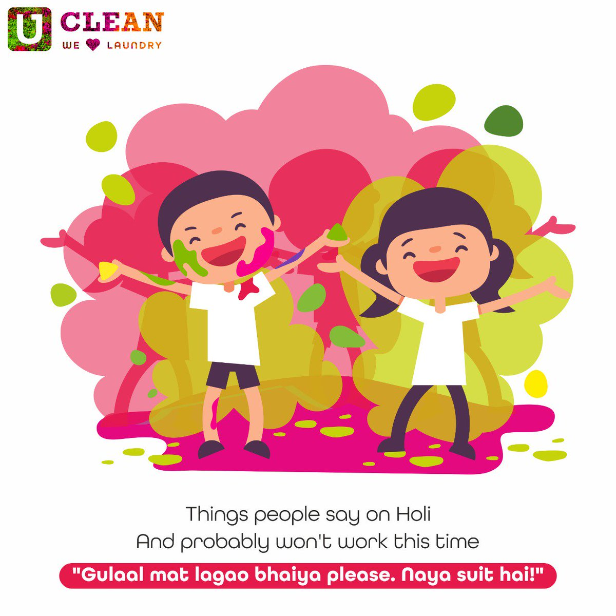 Tag a friend who decides they won&#39;t, but always end up playing Holi.  Khelo #BefikarHoli with #UClean #Participate #TagaFriend <br>http://pic.twitter.com/wym3edB12N