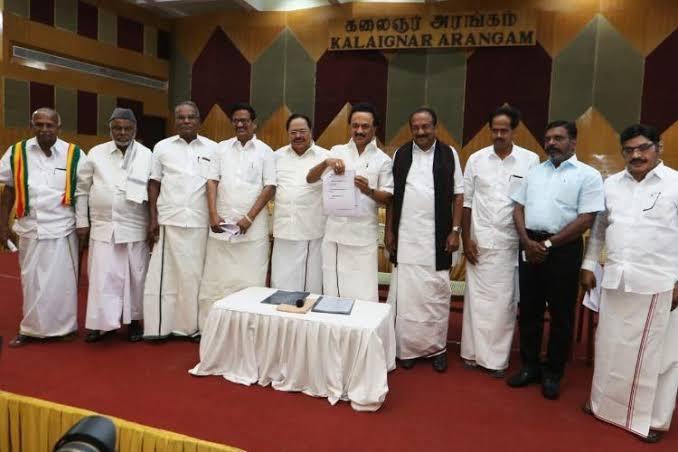 Tamil Nadu: DMK, AIADMK release election manifestos