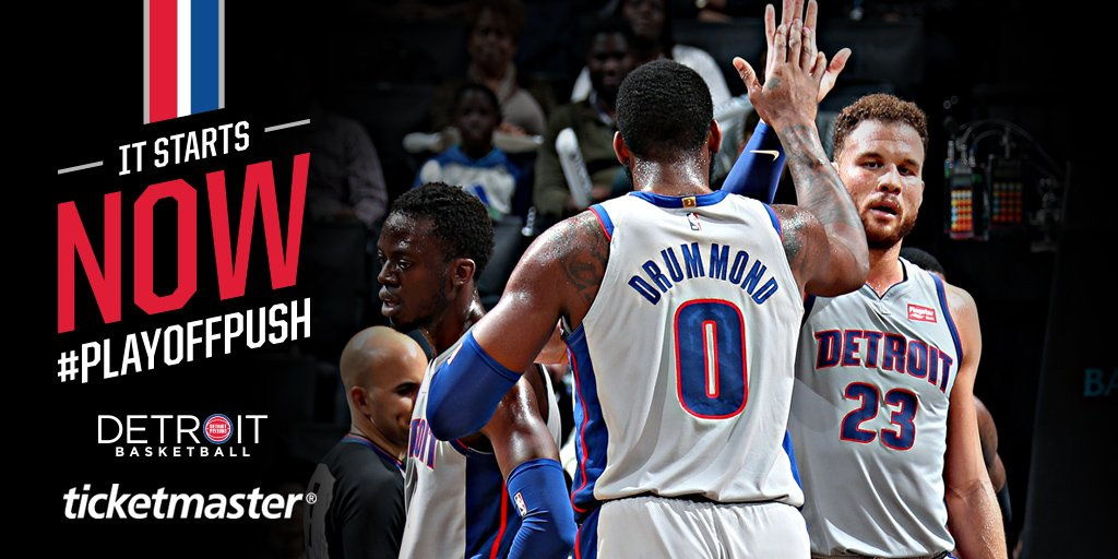 FIVE regular season home games left.  Be at @LCArena_Detroit for the #PlayoffPush - get tickets with @Ticketmaster, the official ticketing partner of the @NBA: http://bit.ly/PistonsTicketmaster…