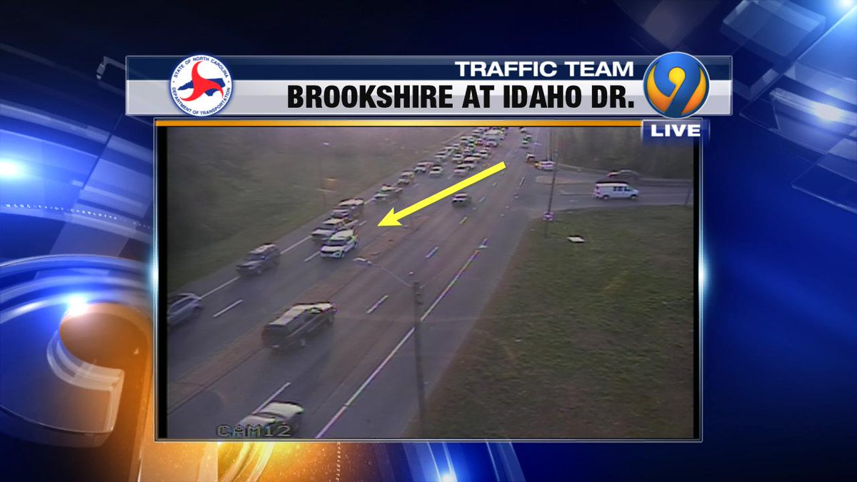 UPDATE: OB Brookshire at Idaho Dr. police are blocking the left lane due to debris in the roadway prior to I-85.  Expext heavy dleays #cltraffic #clttraffc #clt<br>http://pic.twitter.com/bas45pKKA8