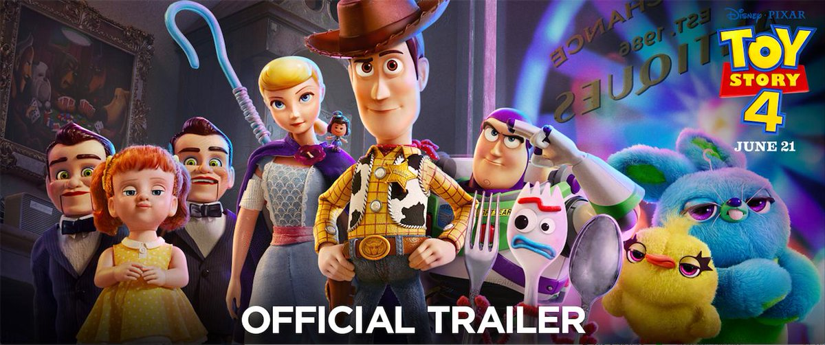 First full trailer for #ToyStory4. Thoughts?