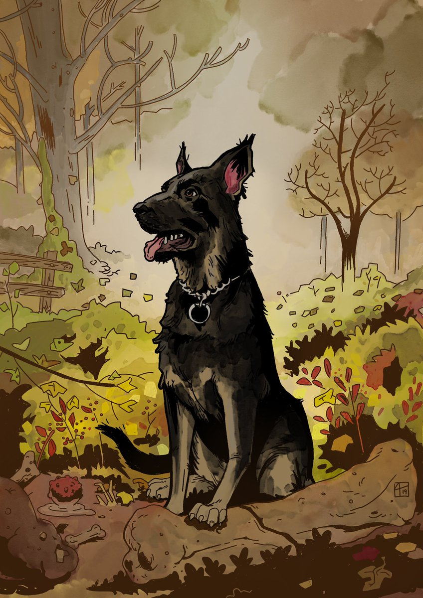 Shout out to @TimothyLlompart for the amazing drawing of my dog Stella! <br>http://pic.twitter.com/HXZr8O4v2d