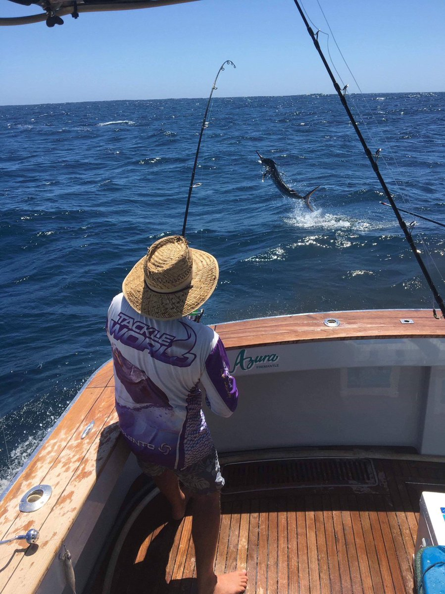 Exmouth, Aus - Azura went 9-16 on Billfish, releasing 8 Black Marlin and a Sailfish.