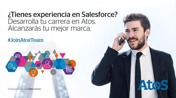 Tenemos un equipo puntero en @salesforce ¿te animas a desarrollar tu talento en Atos?...