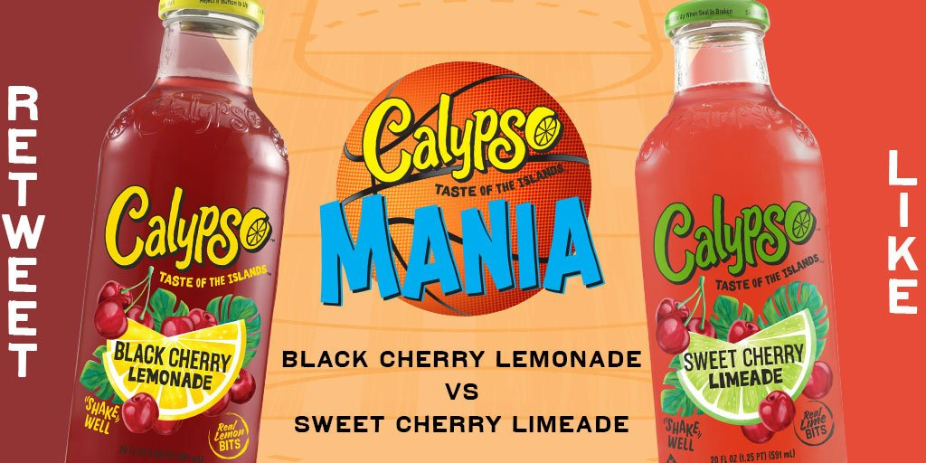Day 2: RT to vote for Black Cherry Lemonade. LIKE to vote for Sweet Cherry Limeade. #CalypsoMania #Giveaway