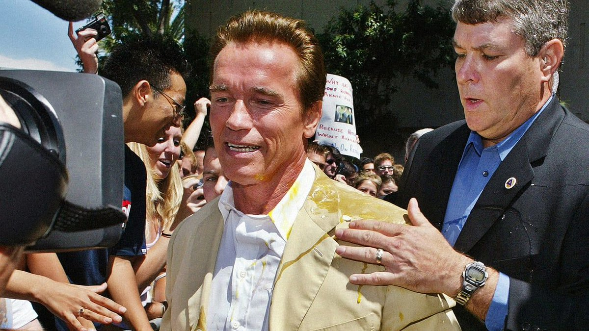 🥚 Watch just-egged @Schwarzenegger's defense of political eggings: https://buff.ly/2HGTJqz