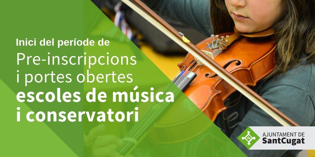 🎶S'inicia el període de portes obertes i pre-inscripció de les escoles de música i del conservatori. Per a més informació consulta els horaris a https://t.co/rOv44ugfts