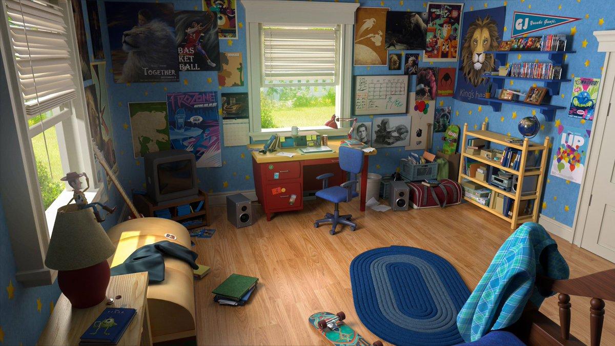 ピクサーへの尊敬の気持ちを込めて、3DCGでトイ・ストーリー3のアンディの部屋とウッディを作りました。トイ・ストーリー4楽しみです!#toystory3#ToyStory4 #maya#arnold#woody#photoshop#Pixar
