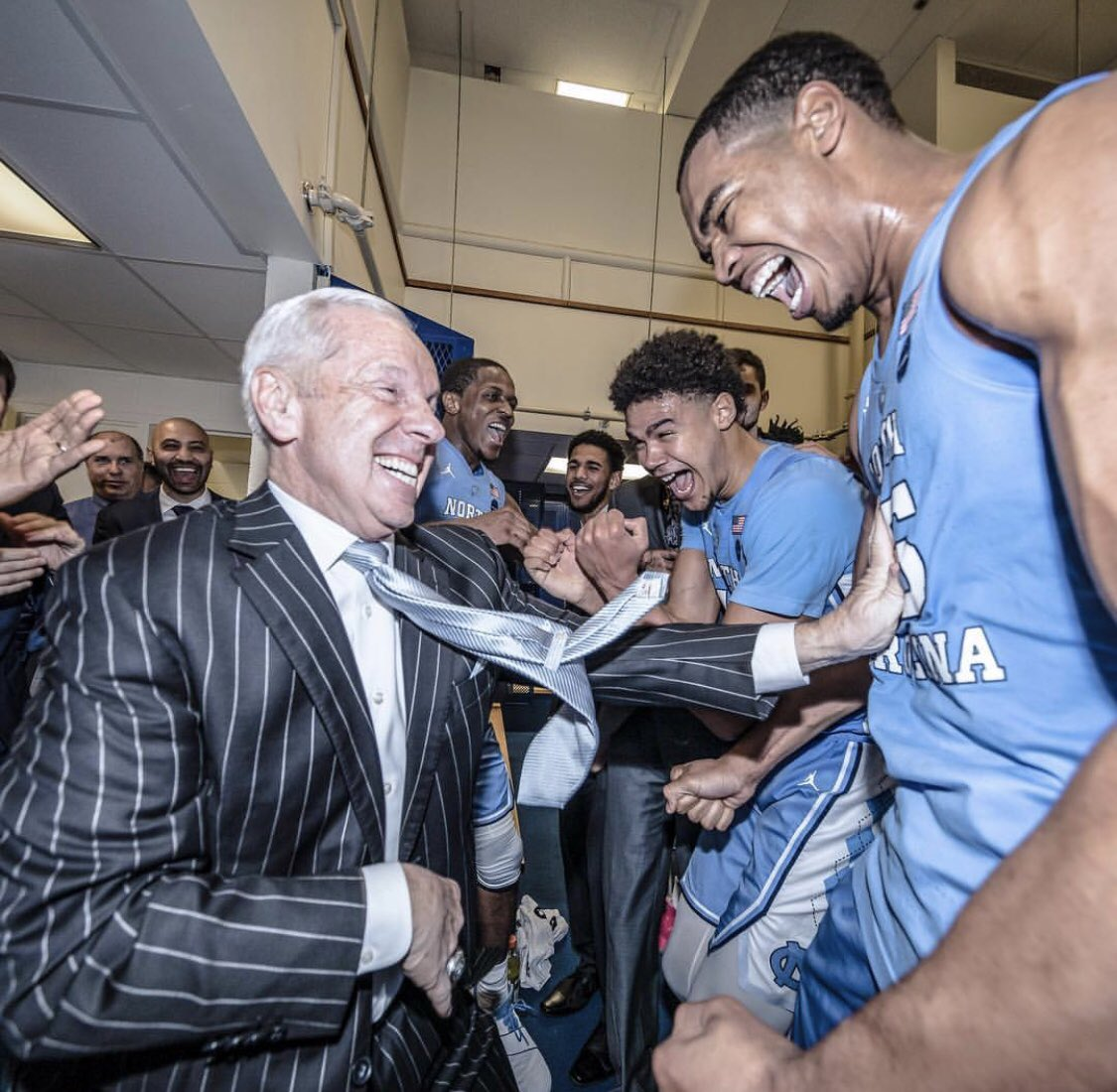 That feeling when Roy Williams gets named USA Today's National Coach of the Year https://t.co/5qeJpyejCL
