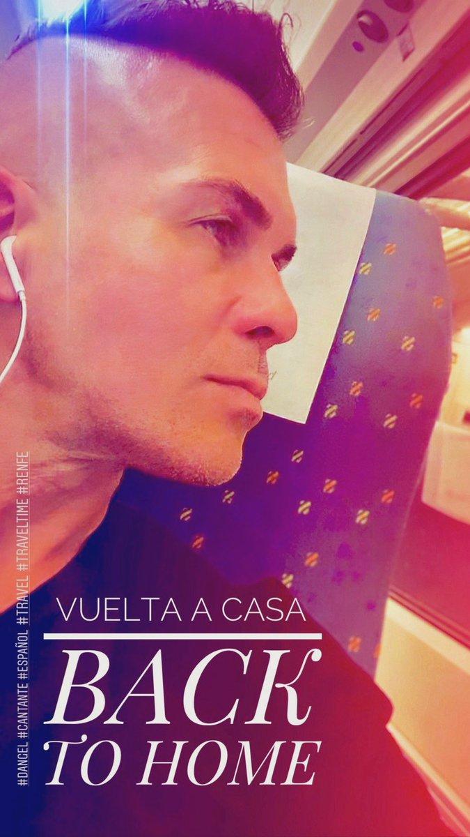 VUELTA A CASA ❤️ BACK TO HOME _    #Dangel #cantante #español #autor #singer #entertainer #elsol #todaviaquedanangeles #stillbelieveinangels #urbanlatinremix #tudebesdecidir #uhave2decide #luzinterior #singles #Travel #traveltime #viaje #viajando #renfe #Spain #España