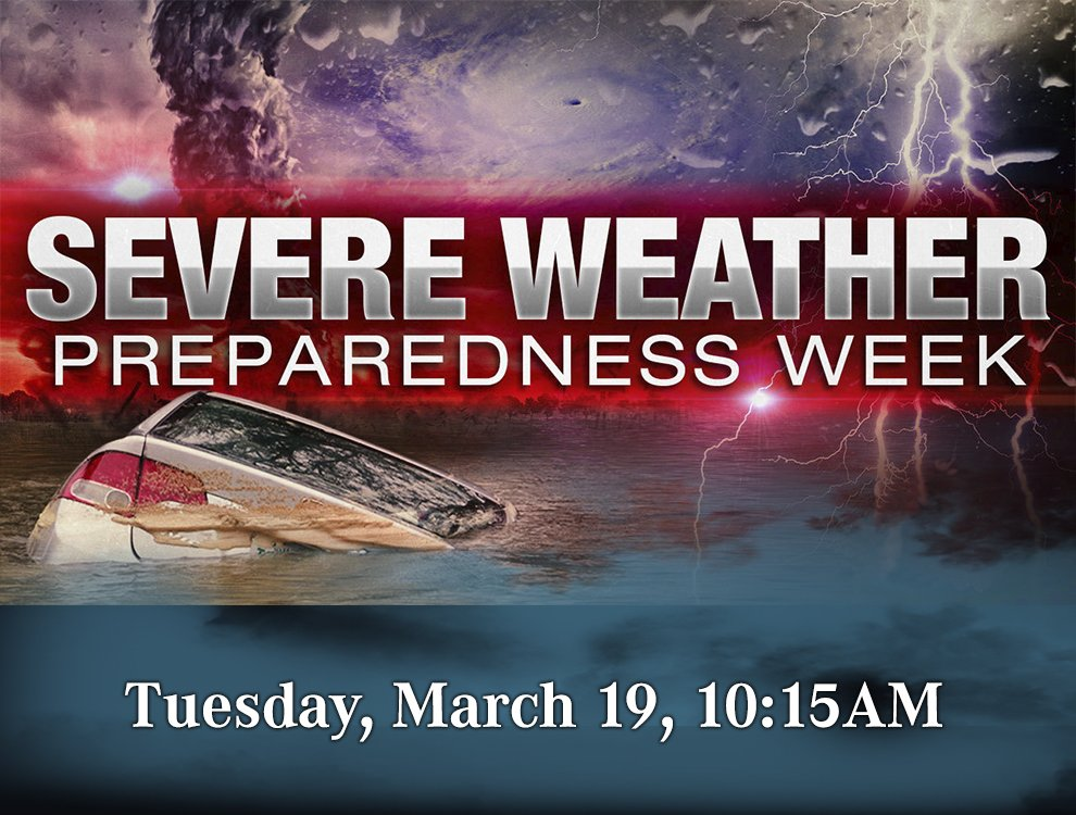 The National Weather Service Will Conduct A Test That Includes 15 Minute Live Tornado Warning Alert On Tuesday March 19 At 10 M