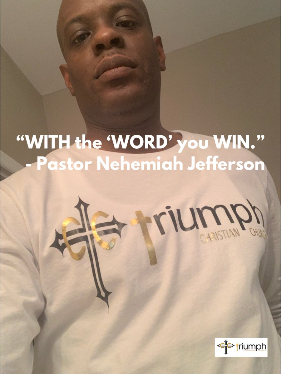 """WITH the 'WORD' you WIN."" - Pastor Nehemiah Jefferson (@PastorEsq)"
