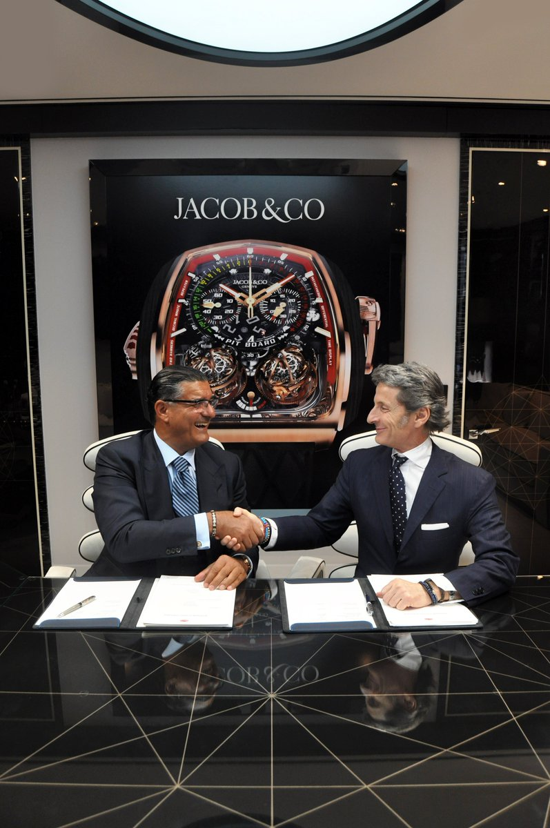 Bugatti Président Stephan Winkelmann and Jacob & Co Founder and CEO Jacob Arabo are proud to announce a long term partnership between the two luxury brands. #Bugatti #JacobandCo #watches #BugattiLifestyle #BugattiInternational #Luxury #JacobandCoBugatti