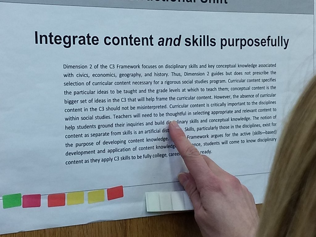 Launching our K-12 social studies day of learning around instructional shifts! #C3<br>http://pic.twitter.com/3HZ7GDcyuP