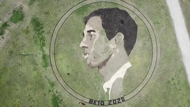 """Two-acre """"Beto 2020"""" crop circle emerges Texas http://hill.cm/HeY0slH"""