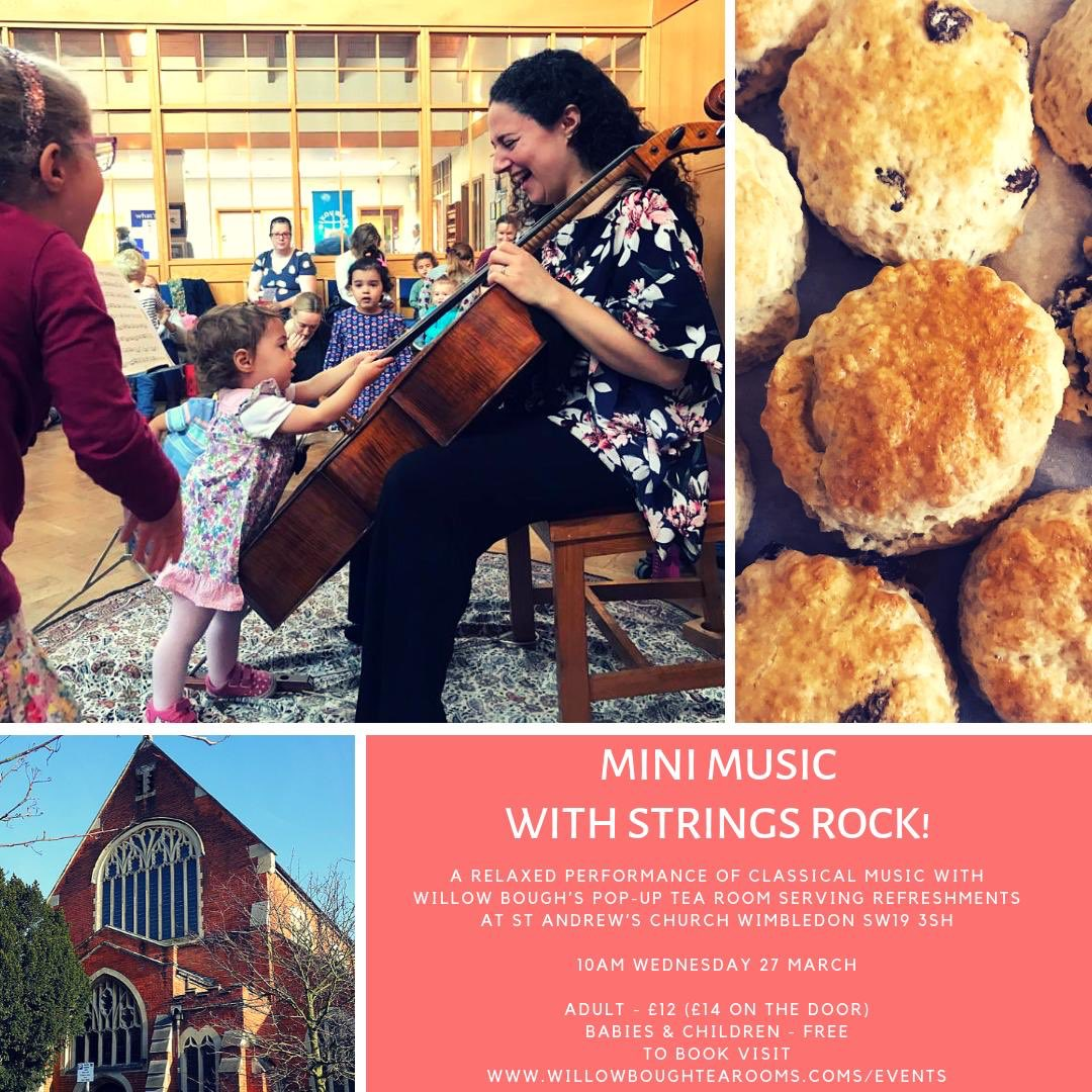 Looking forward to the next Mini Music with ⁦@WillowBoughCake⁩ at St Andrew's Wimbledon on 27th March 10am! Details &amp; tickets below #musicforkids #ClassicalMusic<br>http://pic.twitter.com/XulyqG0liz