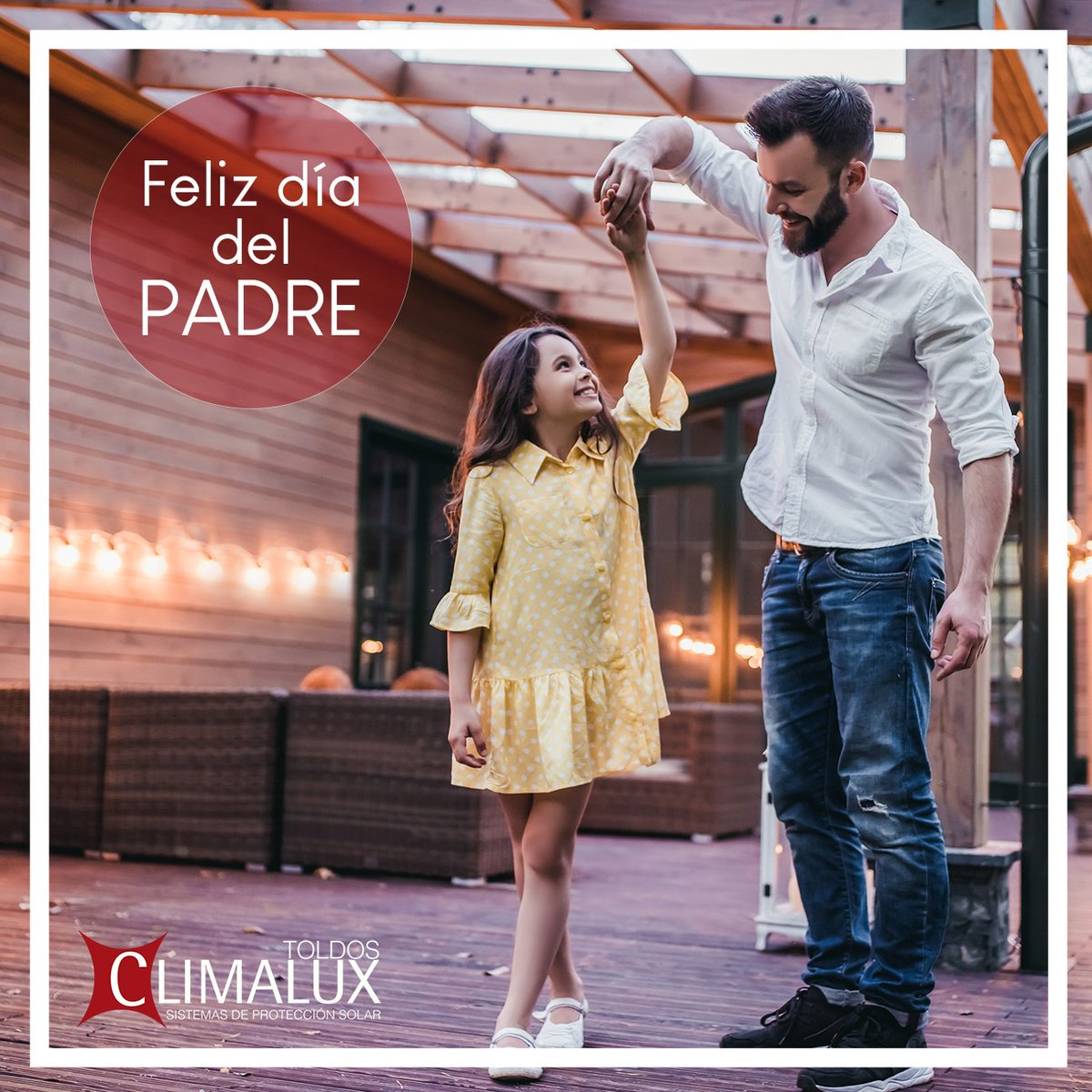 ¡Desde #ToldosClimalux queremos felicitar este día a todos los padres! 🎉 . . . #climalux #toldosypersianas #toldosautomatizados #toldo #toldos #pergola #pergolaMillenium #pergolasbioclimaticas #pergoladesign #deco #design #terraza #balcon #toldosclimalux #diadelpadre https://t.co/OOM8yCwx3H