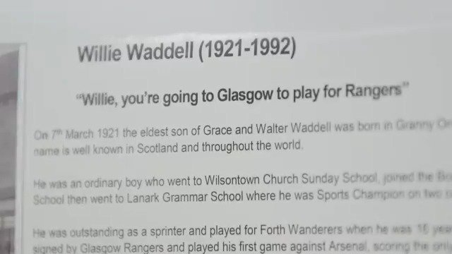 🎥 @RangersTV visited the Forth Sports and Community Centre as it was renamed in honour of Willie Waddell. https://t.co/eo66QYa8y6