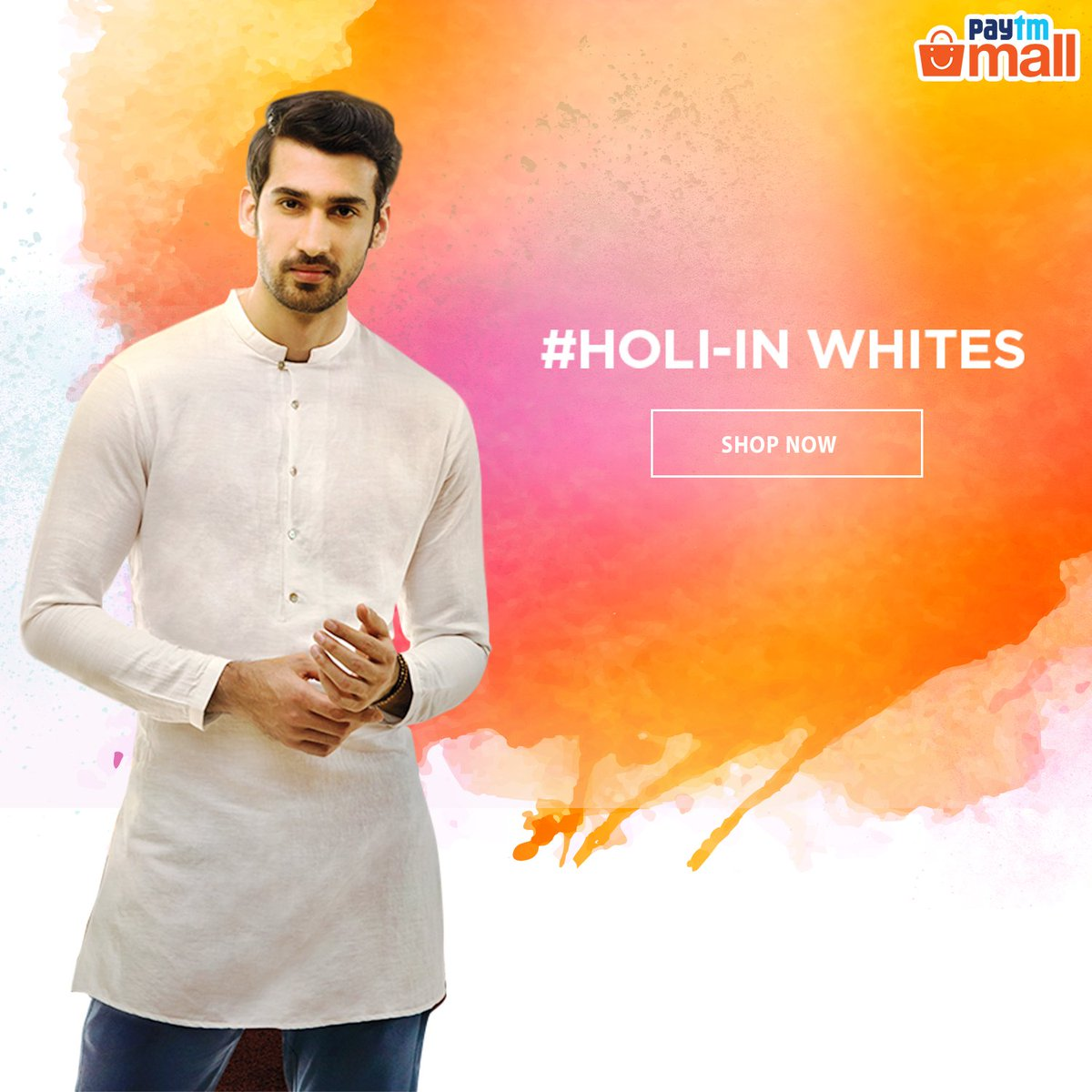 10f20645ee4 This Holi add a whole lot of style to your traditional outfit with Peter  England White Kurtas! Check out our collection and buy now!