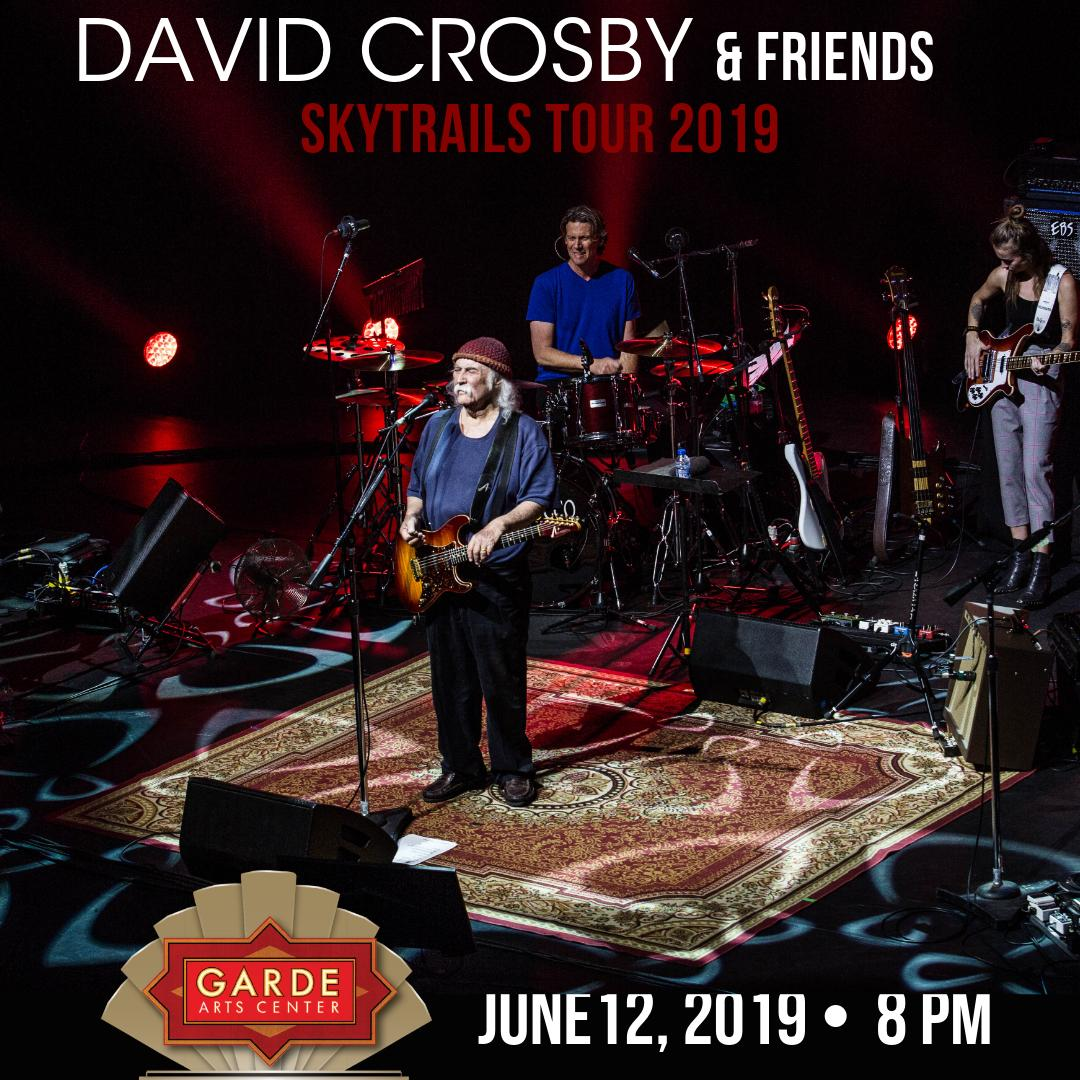 David Crosby, two-time Rock and Roll Hall of Famer and co-founder of the Byrds and Crosby, Stills &amp; Nash, joins with the 'SkyTrails Band' on June 12. Tickets may be purchased at  https:// sforce.co/2GtduC7  &nbsp;   #GardeArtsCenter #DavidCrosby #SkyTrails <br>http://pic.twitter.com/0HfpHrS7hc