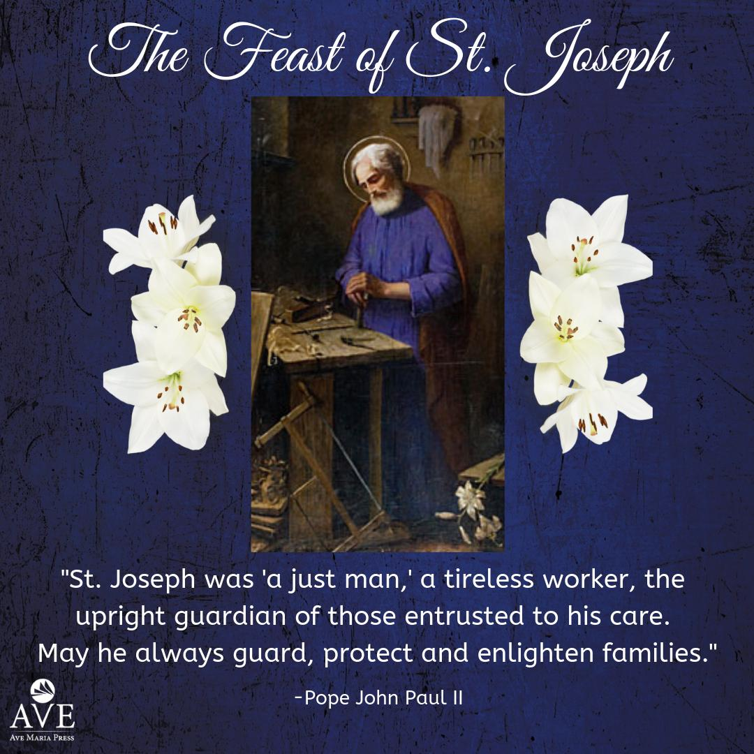 On the feast of St. Joseph, let us give thanks to our heavenly father for all our earthly father figures who guard and protect us. St. Joseph, pray for us!  #stjoseph #feastday #prayforus #johnpaulii