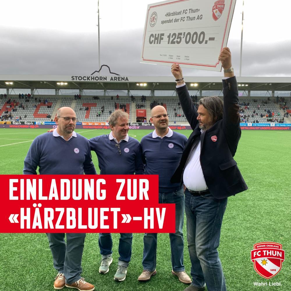 Melde dich jetzt für die Hauptversammlung des Vereins «Härzbluet FC Thun» am Dienstag, 16. April, 19 Uhr in der Arena Lounge der Stockhorn Arena an. ➡️ https://fcthun.ch/de/News#news-entry-2866… #wahriliebi #härzbluetfcthun