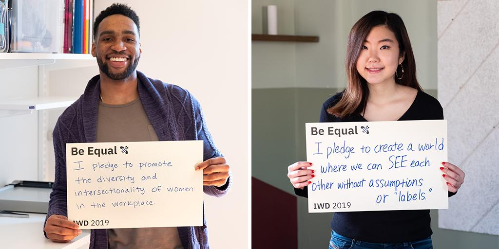 This #WomensHistoryMonth, IBMers are pledging to #BeEqual to help pave the way for the next generation of women leaders.   How will you do your part? Pledge today: https://ibm.co/2OfCzBx