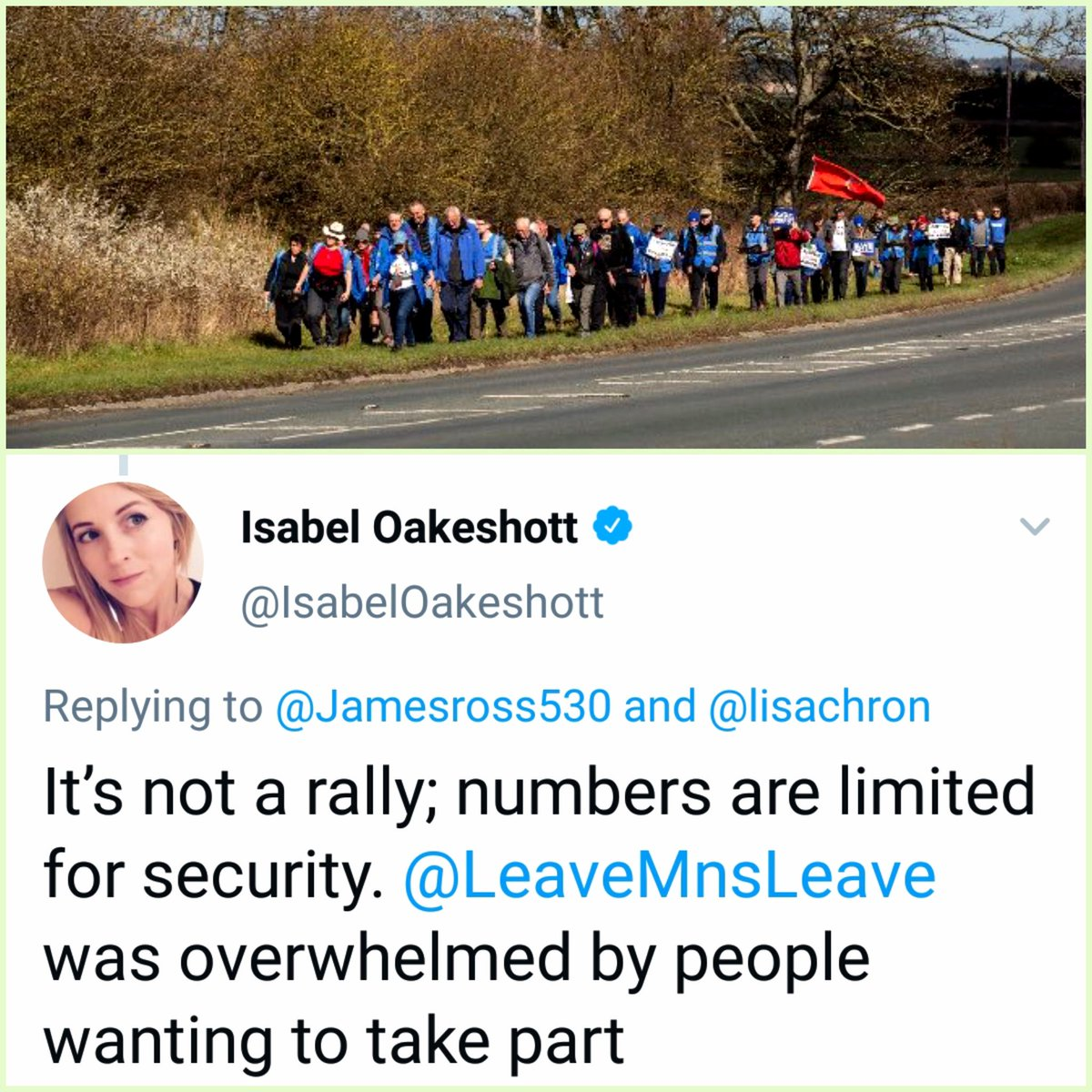 Security looking ok @IsabelOakeshott ... two stewards per marcher, just to be on safe side.