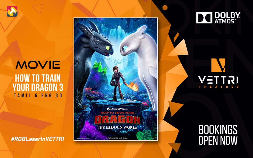 #HowToTrainYourDragon 3 bookings open in Eng & Tamil 3D ....