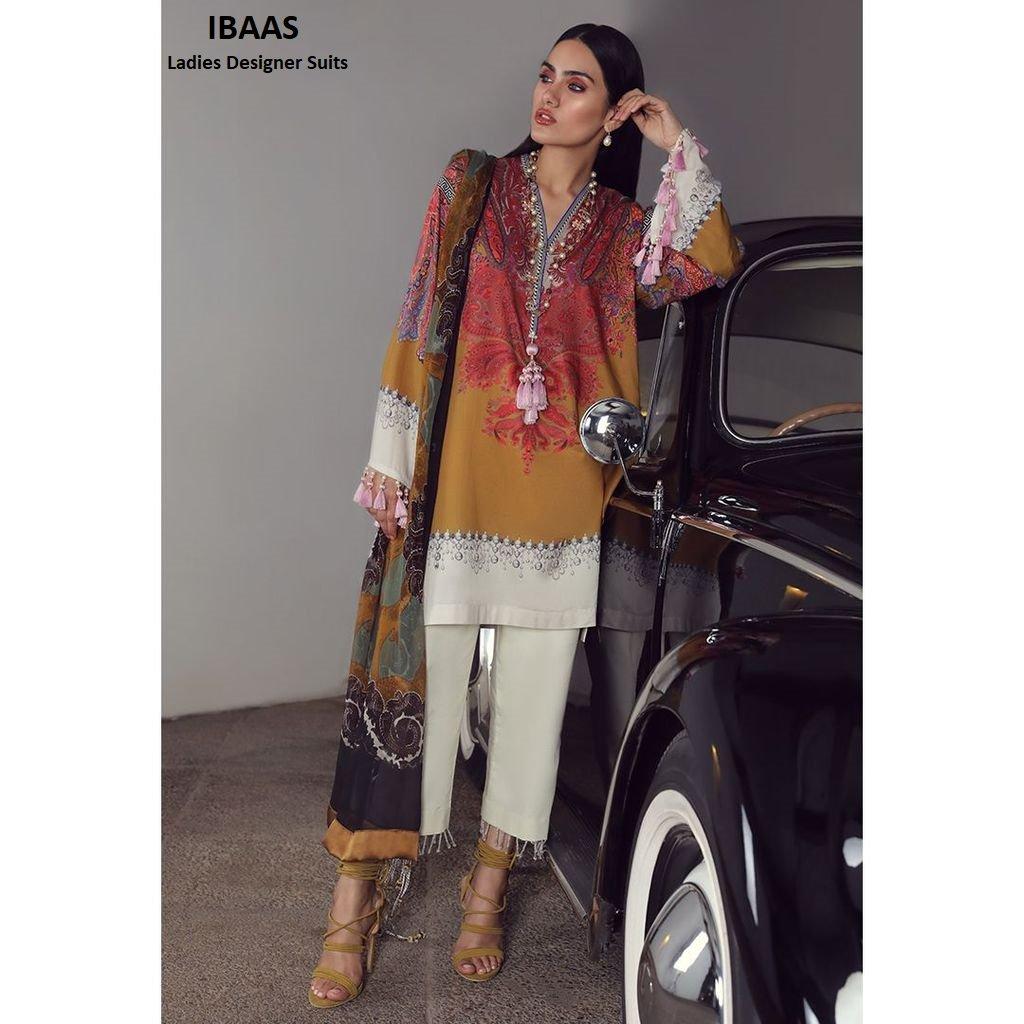 dea615ec1c Buy Sana Safinaz Muzlin Lawn Collection 2019 – Ivory - 19B at IBAAS.  @Ibaasdesignersuits