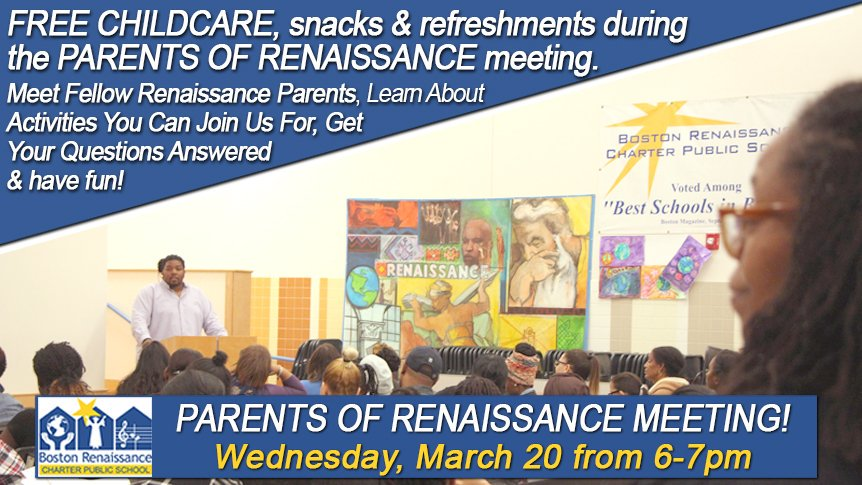 Parents of Renaissance Meeting - Wednesday March 20th from 6-7.  Renaissance families invited!  https://t.co/I0I6Z6LDrp https://t.co/UANHpnXlbo