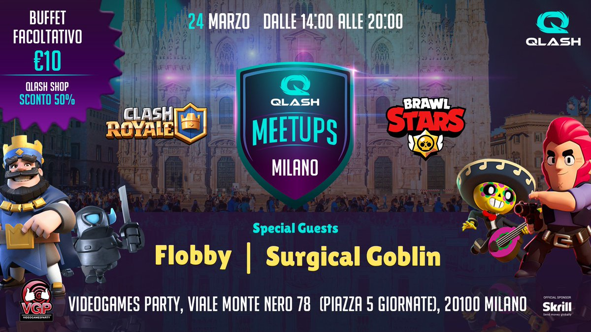 Our #MilanMeetup this weekend is going to be big! Come hang out with us & our awesome guests from @TeamLiquid and @SKGaming 🤩 🙌 #ClashRoyale #BrawlStars https://t.co/7FLRq2slMU