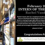 Image for the Tweet beginning: Congratulations @ChestateeHigh Intern of the