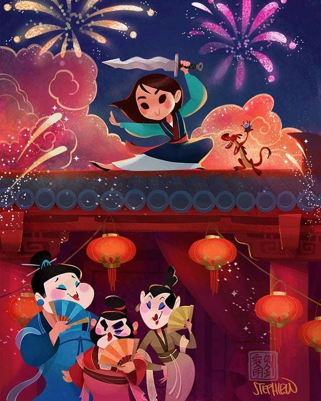 Newest edition to cuties! Etsy store is now back up!  http:// Stephlewart.etsy.com  &nbsp;   #stephlew #mulan #disney #fanart<br>http://pic.twitter.com/dx8VoZI6VC